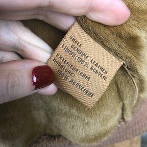 UGG Jackets & Coats - UGG   Tan Suede Leather Hooded Bomber Jacket Large